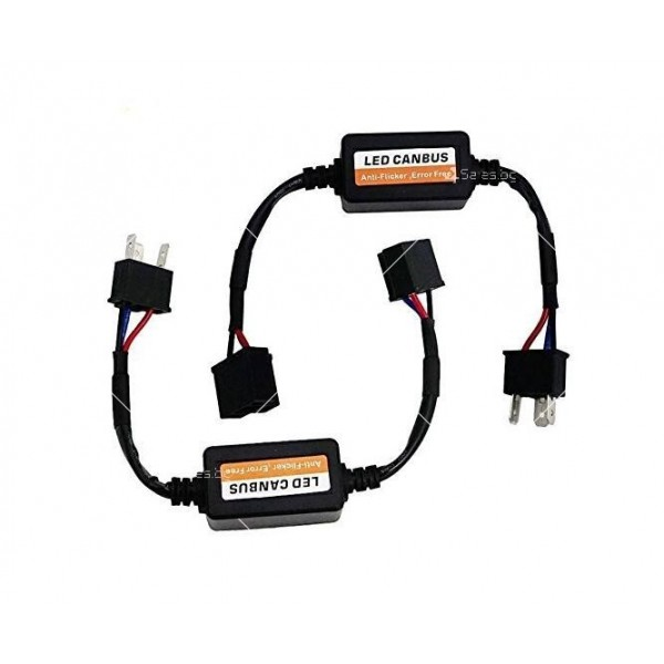 Стоперор, който премахва съобщение за изгоряла крушка при монтаж на H4 CAR LED3 4