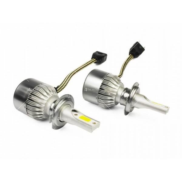 Диодни крушки, подходящи за къси и дълги светлини от типа H7 8