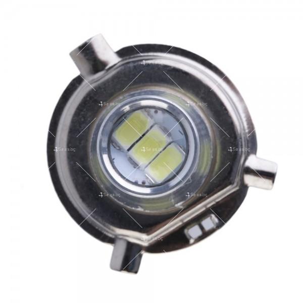 Лед крушки с лупа от типа H4 CAR LED1 8