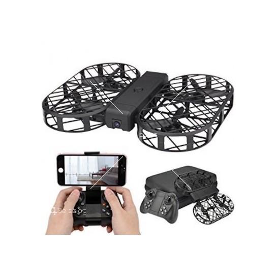 Дрон с 2 мегапиксела камера и защитна мрежа за пускане и хващане с ръка