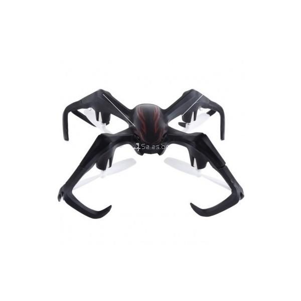 Дрон с уникален паякообразен дизайн и възможност за обърнат полет