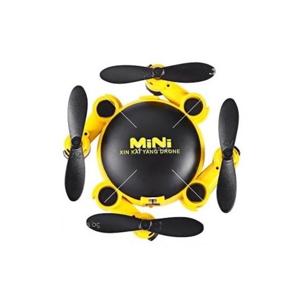 Мини дрон с мощни летателни стабилизатори и компресиран размер 4