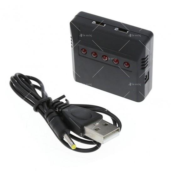 USB зарядно за дрон-батерии с до 5 броя капацитет