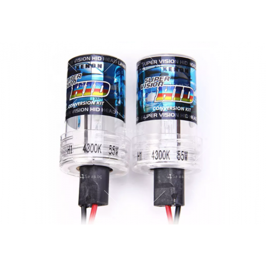 Ксенонова система с 4800 Лумена яркост и 4300 Келвина цвят (тип H1)