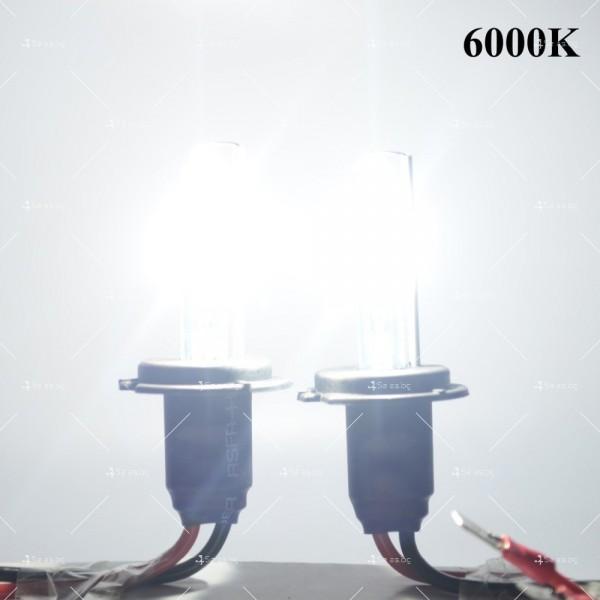 6000 Келвина яркост и 55 вата мощност с новата ксенон система тип H7 12