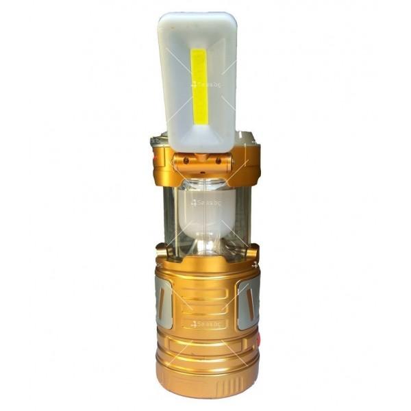 Мултифункционален лед фенер със слънчево зареждане CAMP LAMP9 1