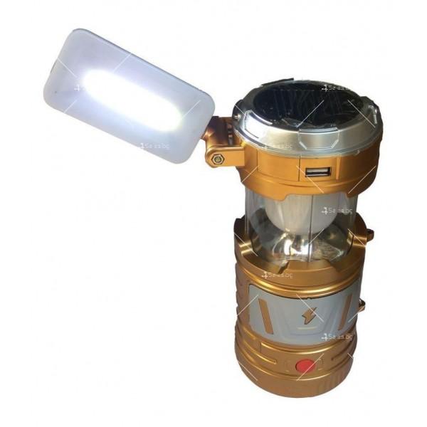 Мултифункционален лед фенер със слънчево зареждане CAMP LAMP9 3