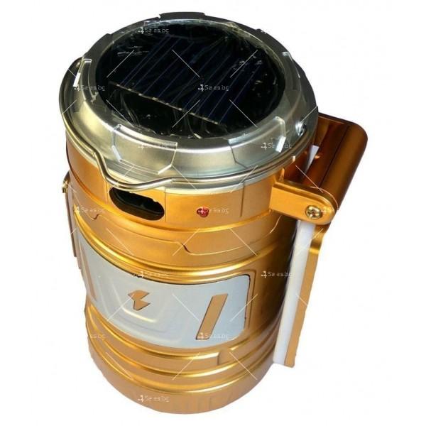 Мултифункционален лед фенер със слънчево зареждане CAMP LAMP9 4