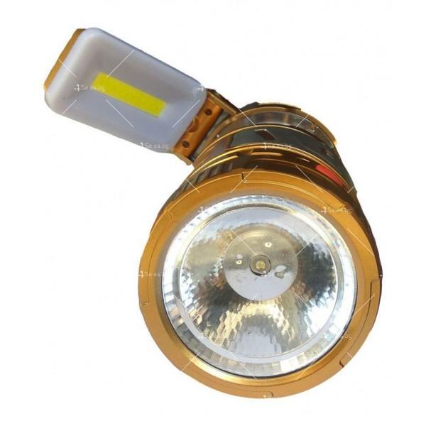 Мултифункционален лед фенер със слънчево зареждане CAMP LAMP9 5