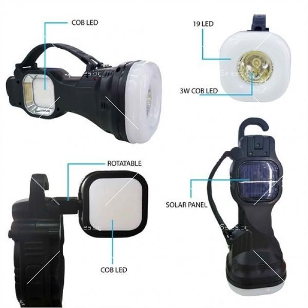 Мултифункционална лампа, подходяща за работа и четене, със слънчеви батерии 10