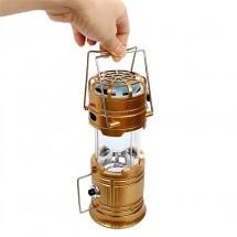 Фенер за къмпинг с вентилаторно охлаждане и зареждане при облачно време