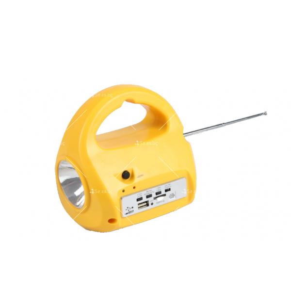 Фенер със соларно зареждане, MP3 плеър и FM радио 2