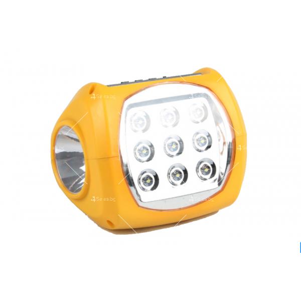 Фенер със соларно зареждане, MP3 плеър и FM радио 3