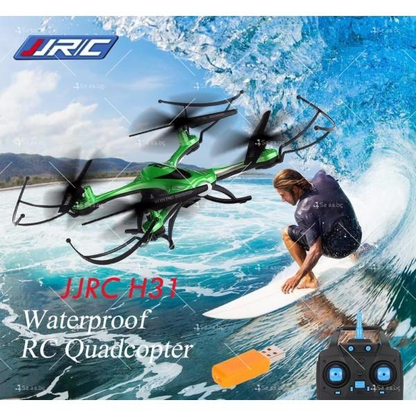 Дрон JJRC H31 с висока водоустойчивост, LED светлини и 360 градуса превъртане
