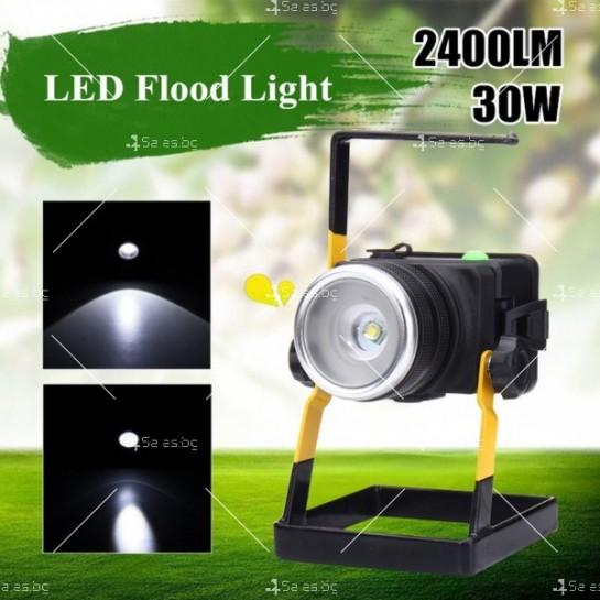 Портативен лед прожектор с UV светлина GDL4