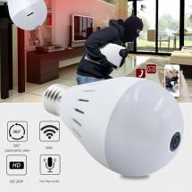 Електрическа крушка с 360 градуса панорамна HD камера, WI FI , SD слот IP10
