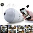 Електрическа крушка с 360 градуса панорамна HD камера, WI FI , SD слот IP10 13