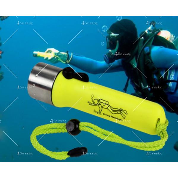 Фенер за водолази с издръжливост до 50 метра дълбочина FL73 9