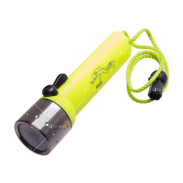 Фенер за водолази с издръжливост до 50 метра дълбочина FL73 12