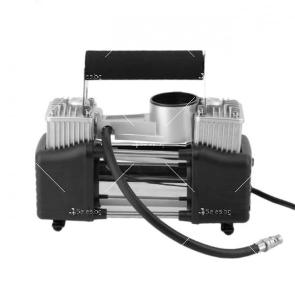 Преносим, мощен и компактен компресор за помпане на гуми с двоен цилиндър 1