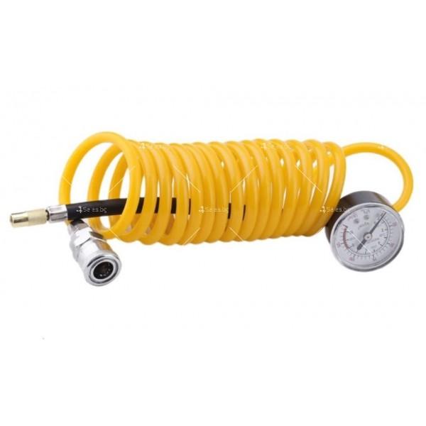 Преносим, мощен и компактен компресор за помпане на гуми с двоен цилиндър 2