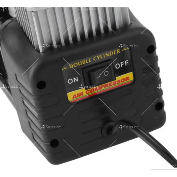 Преносим, мощен и компактен компресор за помпане на гуми с двоен цилиндър 9