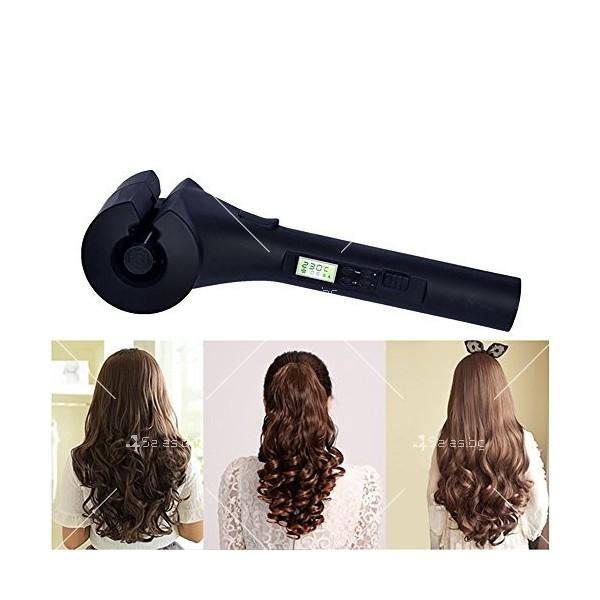 Високотехнологична керамична преса за къдрене на коса с LED дисплей TV142 7