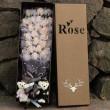 Букет от рози с влюбени мечета изработен от сапун BUKET33 3