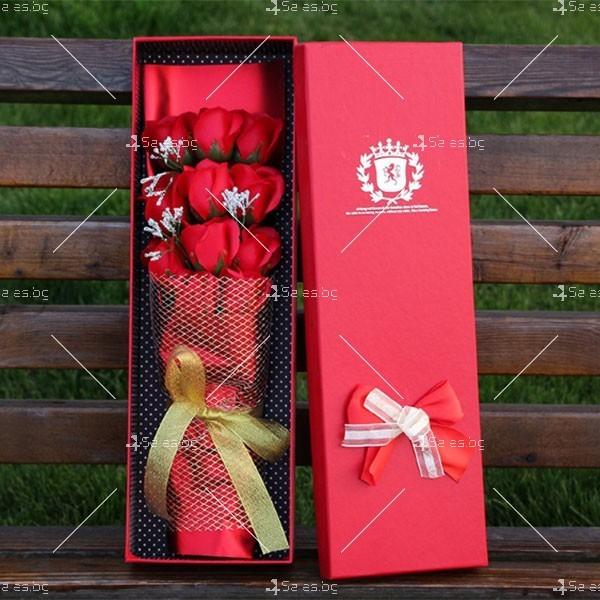 Прекрасен букет от сапунени рози BUKET11 3