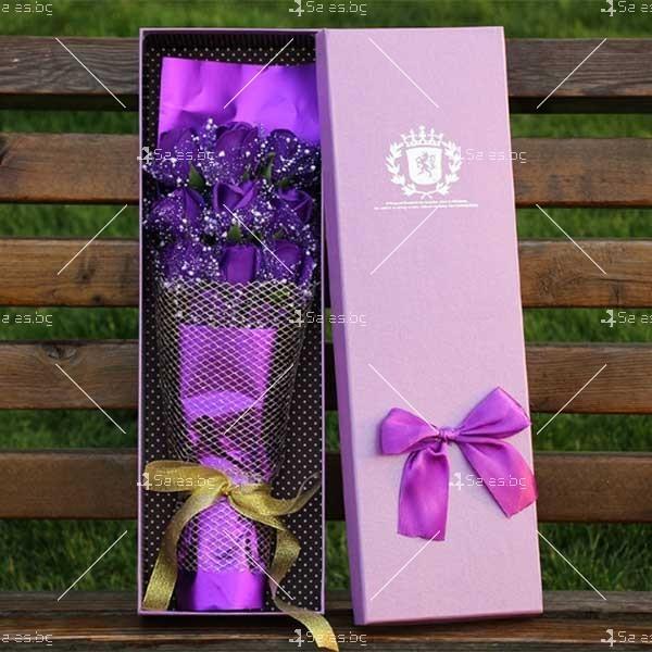 Прекрасен букет от сапунени рози BUKET11 7