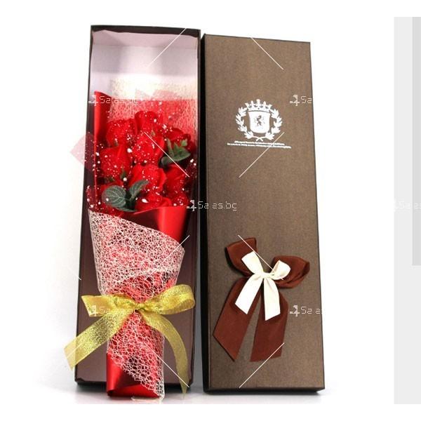 Прекрасен букет от сапунени рози BUKET11
