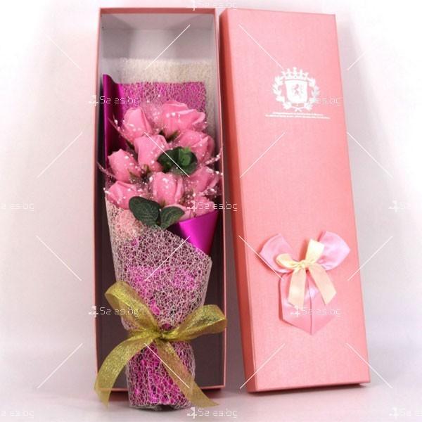 Прекрасен букет от сапунени рози BUKET11 9
