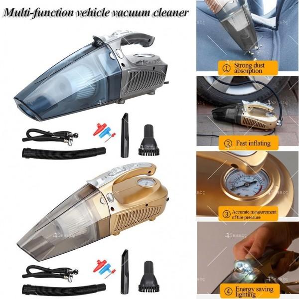 Супер мултифункционална 100W автомобилна прахосмукачка 4 в 1,AUTO CLEAN-5 15