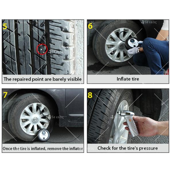Инструмент за поправка на спукана гума, GUM REPAIR CASE2 13