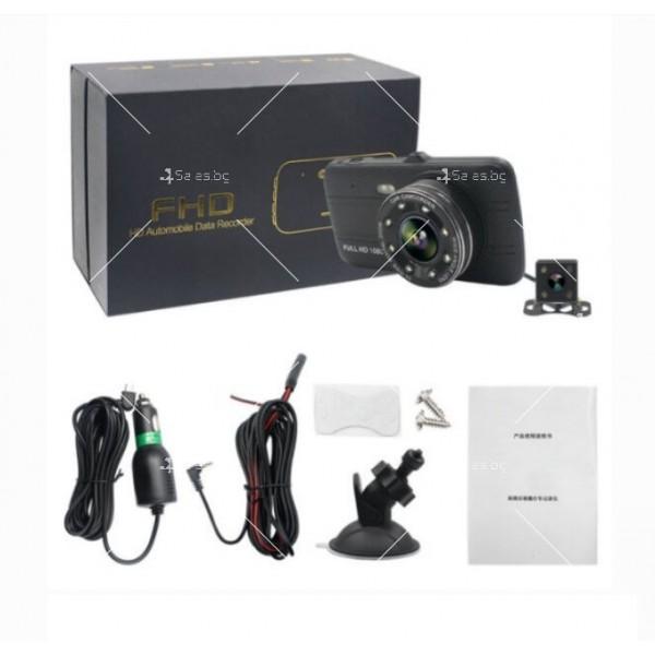 Видеорегистратор с 4 инчов екран и 170° градусов ъгъл и задна камера AC73B 1