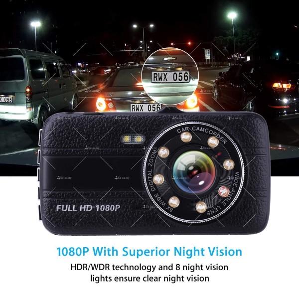 Видеорегистратор с 4 инчов екран и 170° градусов ъгъл и задна камера AC73B 6