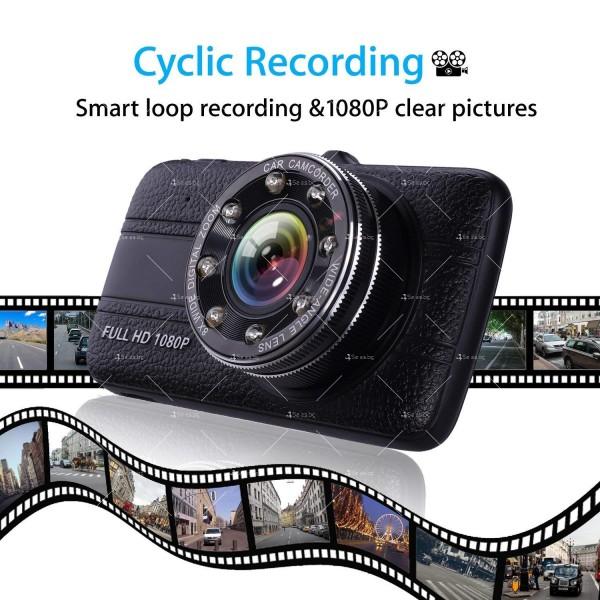 Видеорегистратор с 4 инчов екран и 170° градусов ъгъл и задна камера AC73B 8