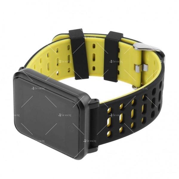 модерен и елегантен водоустойчив смарт часовник с цветен екран и Bluetooth SMW38 2