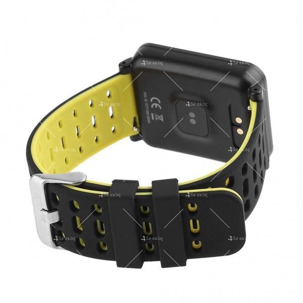 модерен и елегантен водоустойчив смарт часовник с цветен екран и Bluetooth SMW38 4