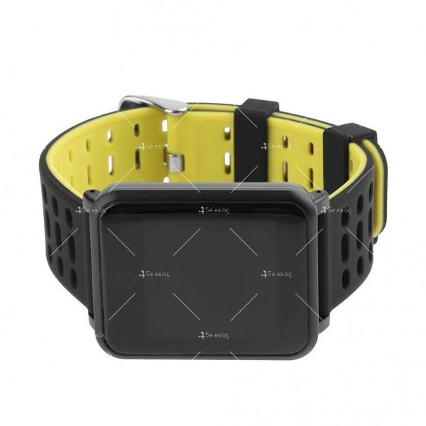 модерен и елегантен водоустойчив смарт часовник с цветен екран и Bluetooth SMW38 5