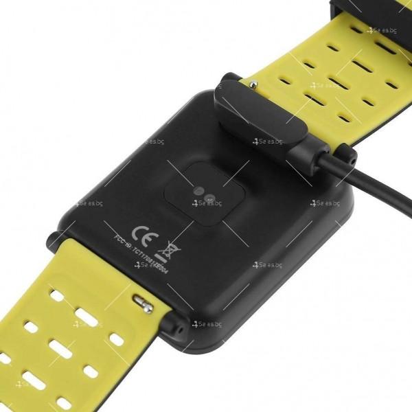модерен и елегантен водоустойчив смарт часовник с цветен екран и Bluetooth SMW38 6