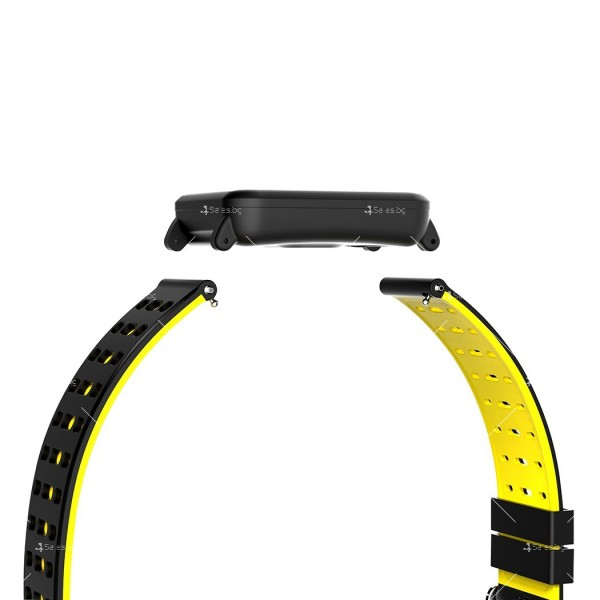 модерен и елегантен водоустойчив смарт часовник с цветен екран и Bluetooth SMW38 11