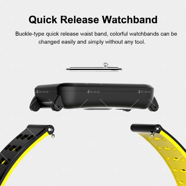 модерен и елегантен водоустойчив смарт часовник с цветен екран и Bluetooth SMW38 12