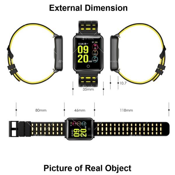 модерен и елегантен водоустойчив смарт часовник с цветен екран и Bluetooth SMW38 16