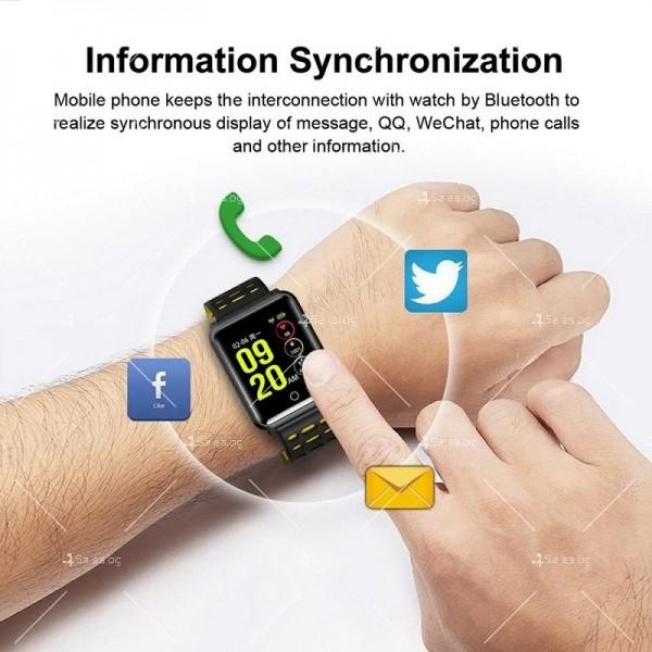 модерен и елегантен водоустойчив смарт часовник с цветен екран и Bluetooth SMW38 17