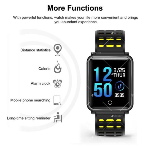 модерен и елегантен водоустойчив смарт часовник с цветен екран и Bluetooth SMW38 18