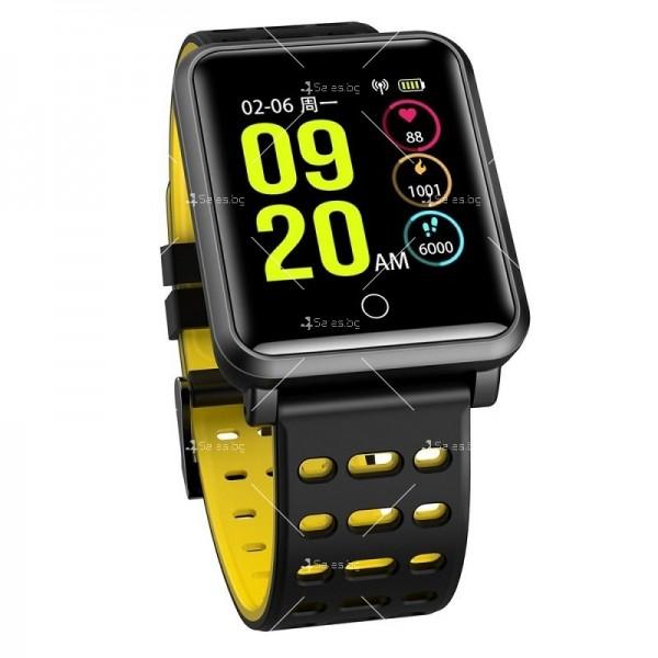 модерен и елегантен водоустойчив смарт часовник с цветен екран и Bluetooth SMW38 20