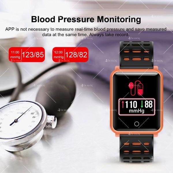 модерен и елегантен водоустойчив смарт часовник с цветен екран и Bluetooth SMW38 22