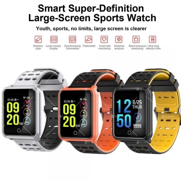 модерен и елегантен водоустойчив смарт часовник с цветен екран и Bluetooth SMW38 29