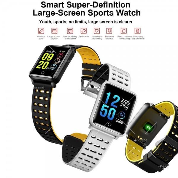 модерен и елегантен водоустойчив смарт часовник с цветен екран и Bluetooth SMW38 27